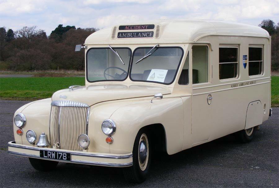 Daimler LRW178 ambulance dates from 1951.jpg