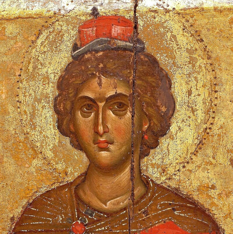 Святой Пророк Даниил. Фрагмент византийской иконы в монастыре Ватопед на Афоне.