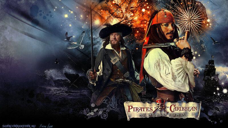 Обои: «Пираты Карибского моря. На краю Света»