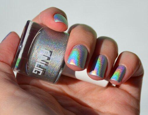 nails, nail polish, fnug, fnug psychedelic, лак для ногтей, лакоманьяк, лак голографик, маникюр