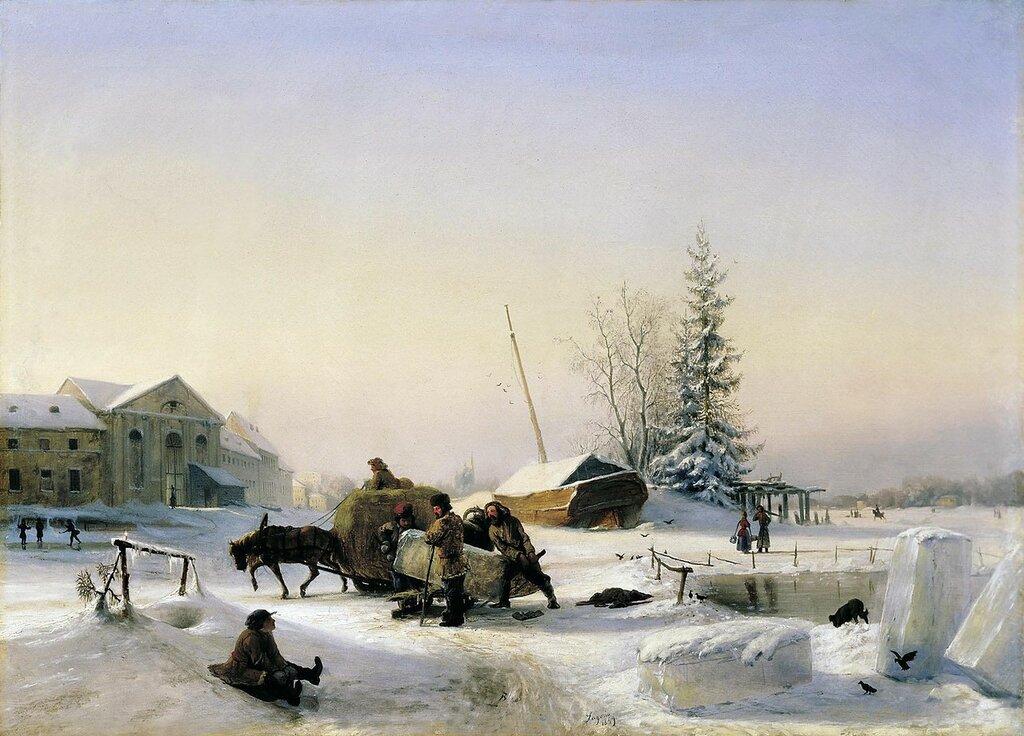 Возка льда. 1849.jpg