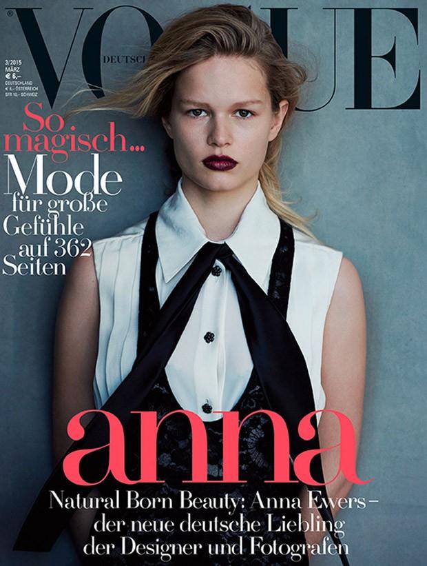 Анна Эверс (Anna Ewers) в журнале Vogue Germany (11 фото)