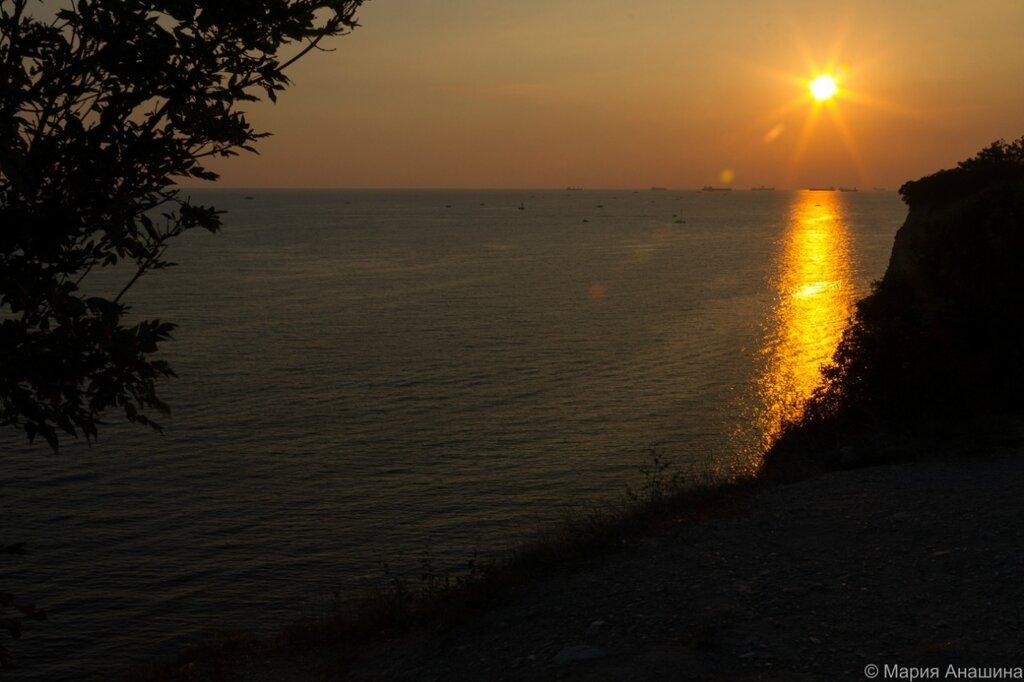 Закат, Черное море, Геленджик