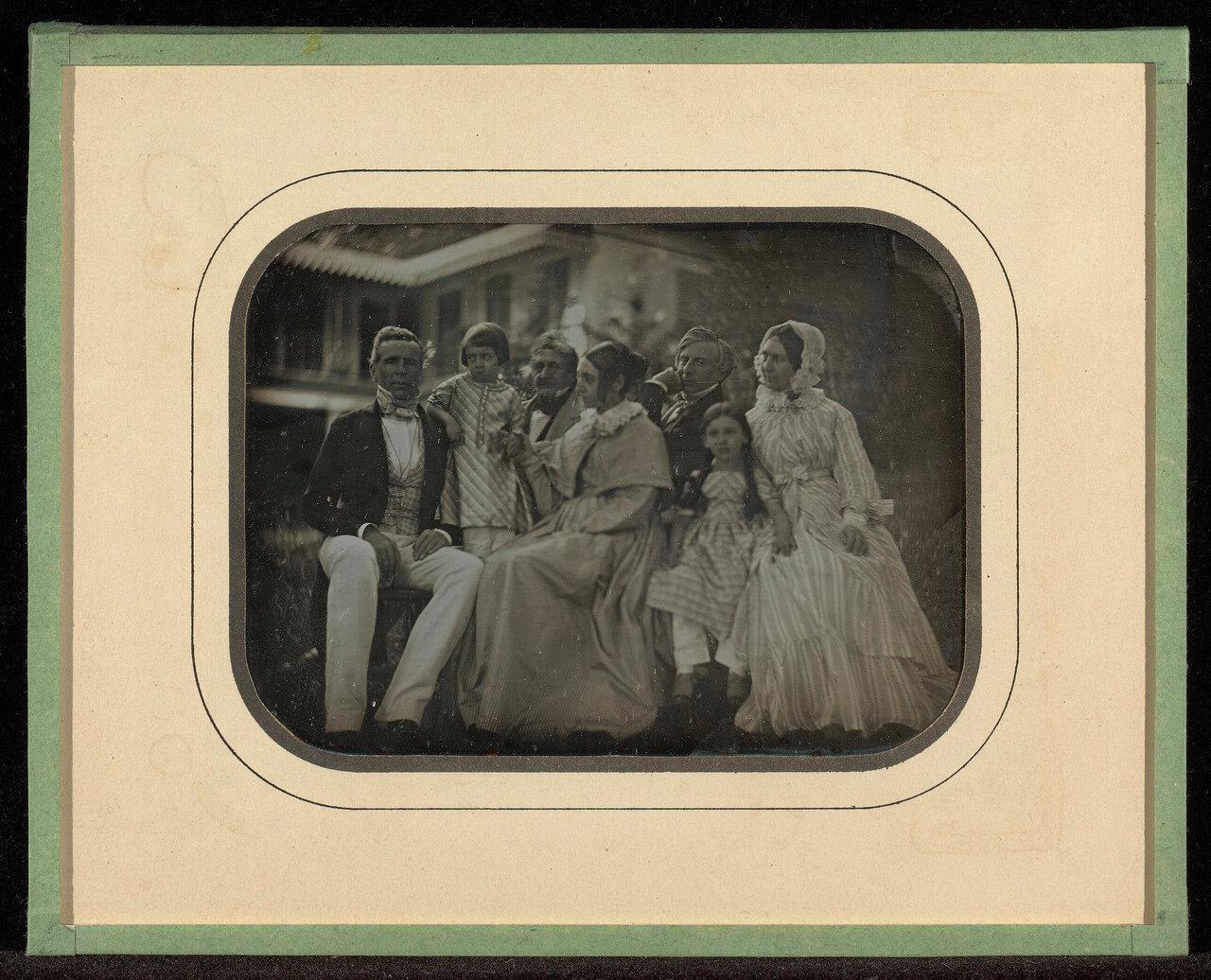 1847. Члены семейства Эйнар. Швейцария