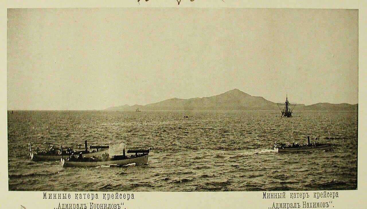 34. Минные катера крейсеров Адмирал Корнилов (слева) и Адмирал Нахимов. Чифу. Май 1895