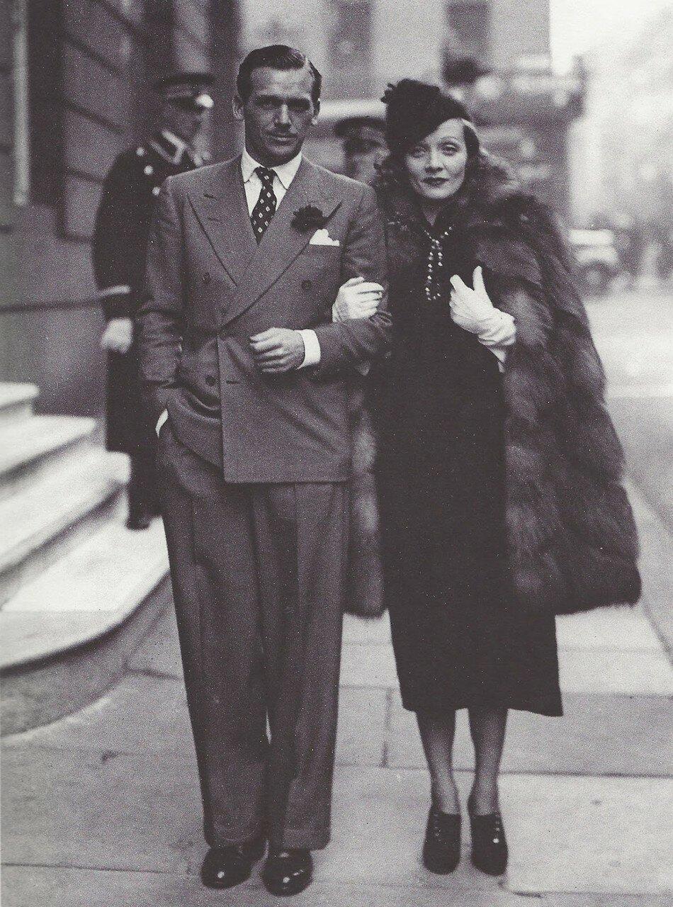 1935. Дуглас Фэрбенкс-младший и Марлен Дитрих