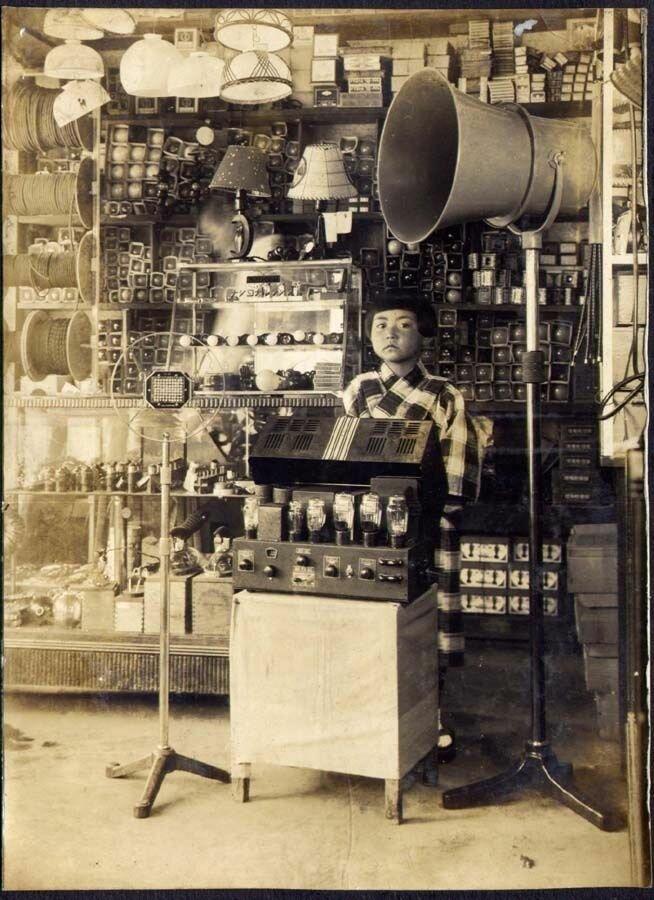 Audio equipment shop in Japan - c.1930.jpg