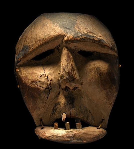 Eskimo Polycrhome Wood Maskette, Alaska, c. 1880.jpg