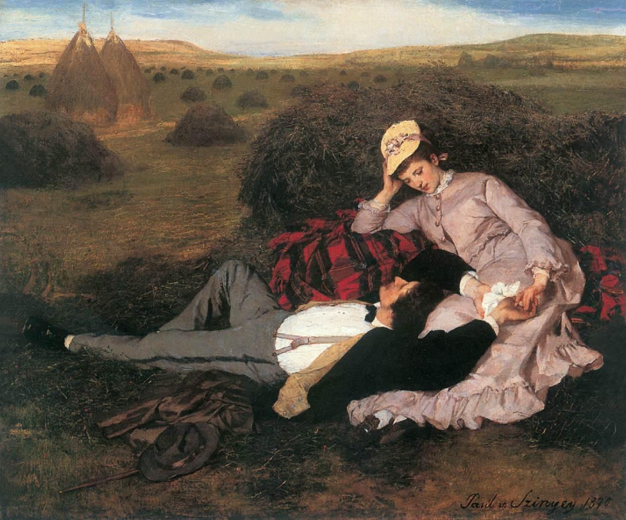 Lovers (1869).Pál Szinyei Merse. Любовники (1869)Синьеи-Мерше, Пал.