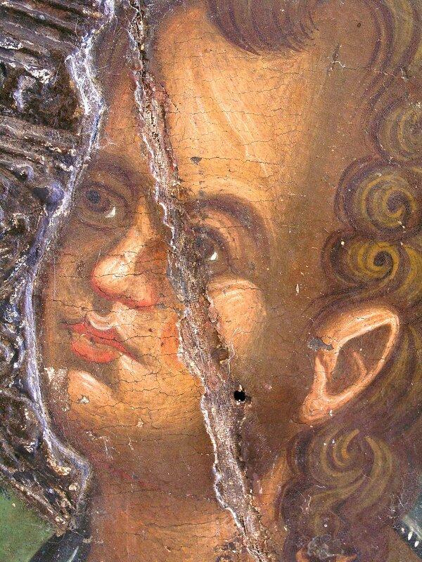 """Икона Божией Матери """"Парамития"""". XIV век. Византийский музей, Пафос, Кипр. Фрагмент."""