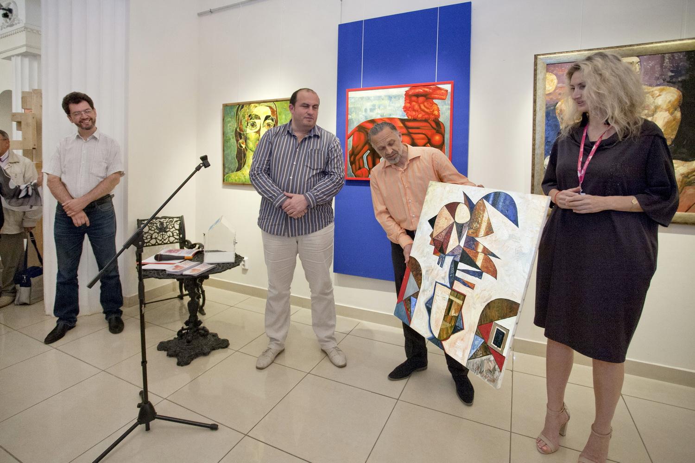 Григорий Лесухин на открытии выставки ″Красный лев″ (06.08.2015)