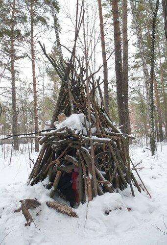 Ленин в Разливе, зимний вариант