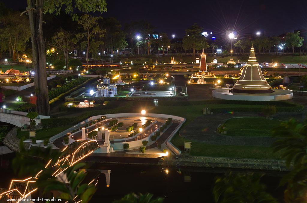 """31. Вид на экспозицию """"Мини-Сиам"""" - тайская часть музея. Отзывы туристов о достопримечательностях Паттайи в Таиланде."""