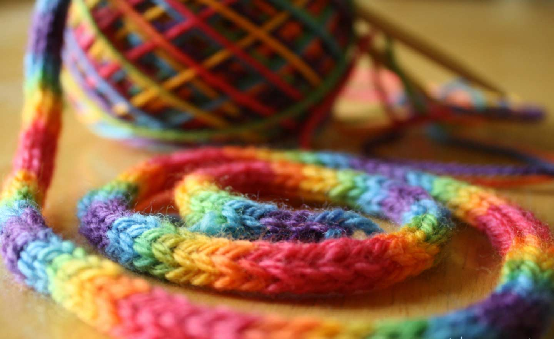 Вязание для пестрых ниток