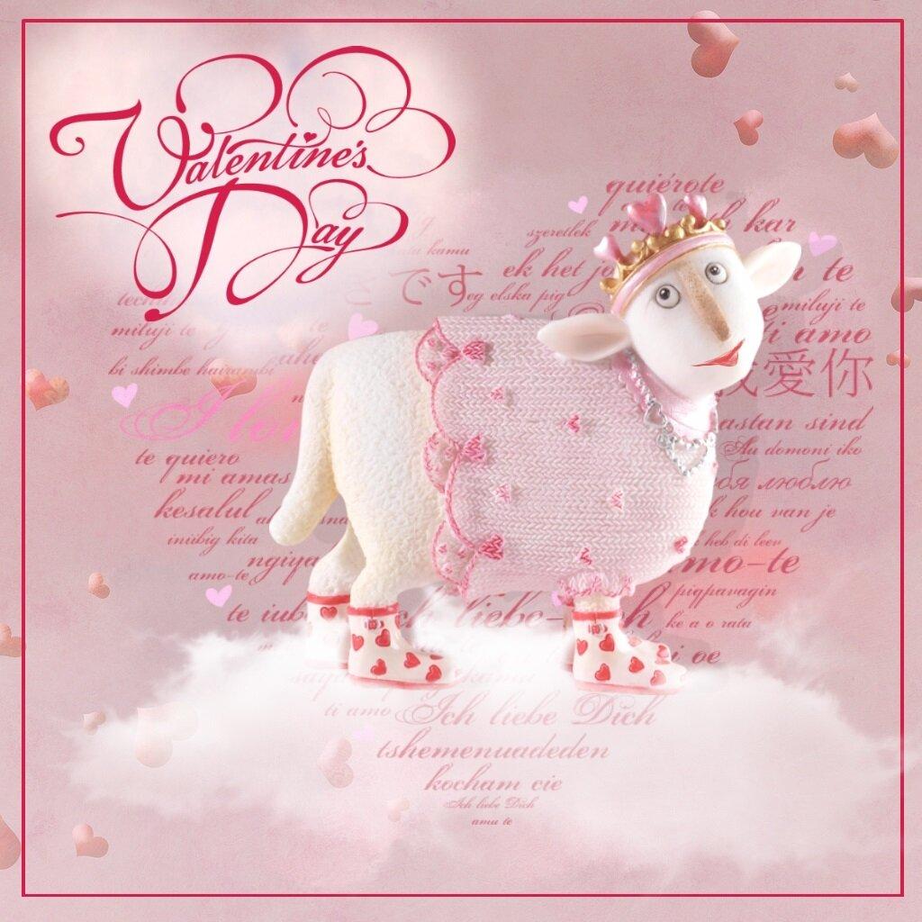 Германия, открытка год овцы