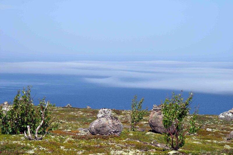 Архипелаг Кузова - сейды, туман