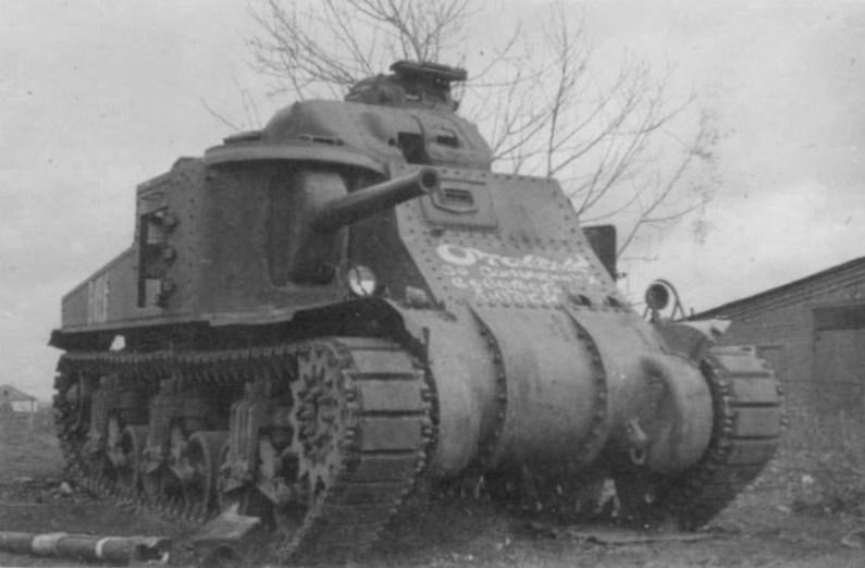 Захваченный танк М3с из 192-й тбр на территории ОБТУ. Орел, 1943 год.
