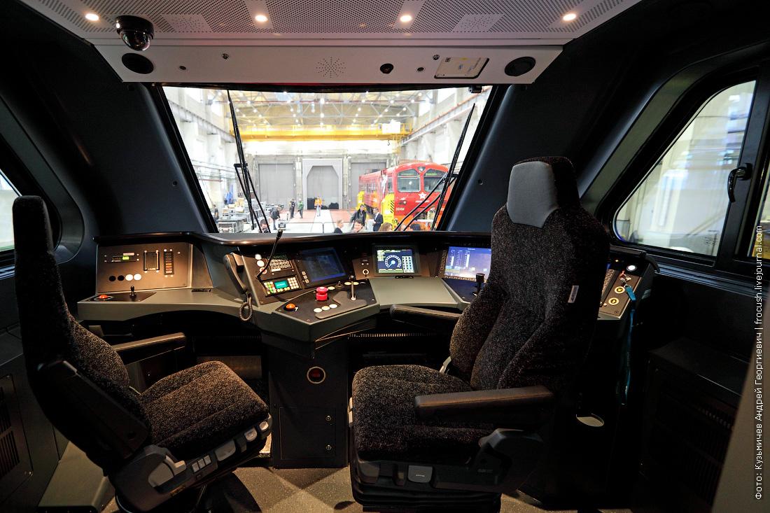 аэроэкспресс двухэтажный кабина машиниста