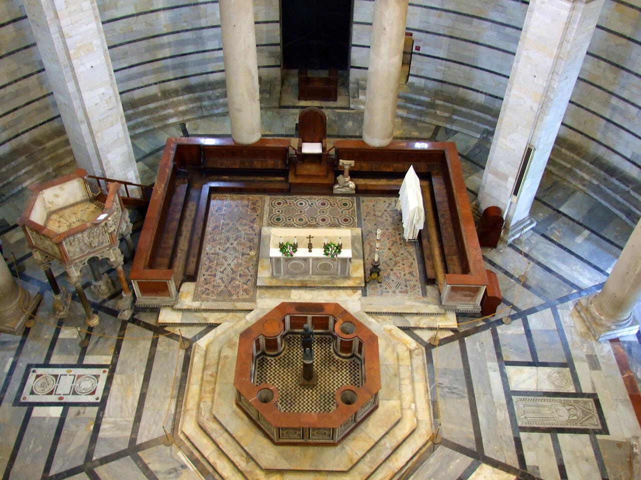 Внутреннее пространство Баптистерия (Battistero di San Giovanni)