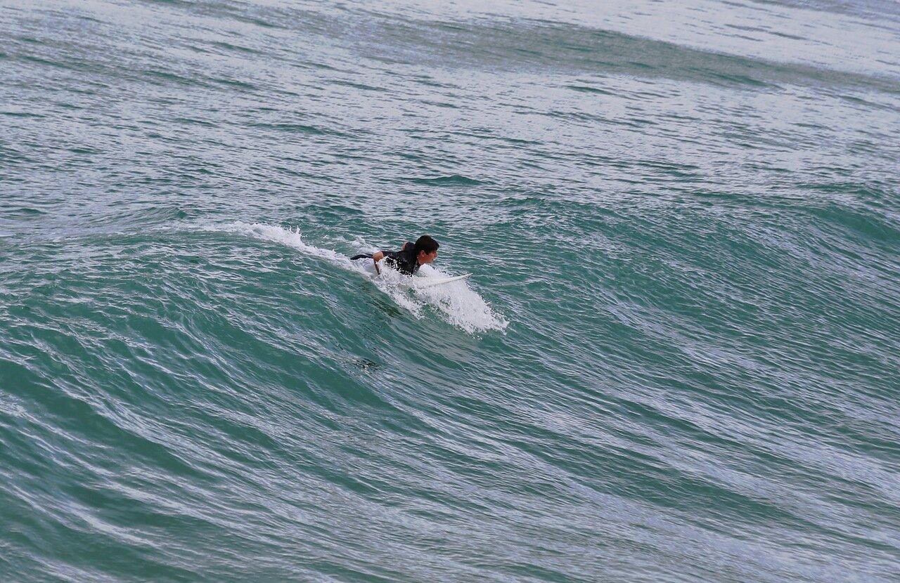 Доностия-Сан-Себастьян. Серфинг на волнах Атлантики.