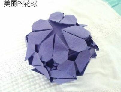 Оригами шар из бумажных сердец