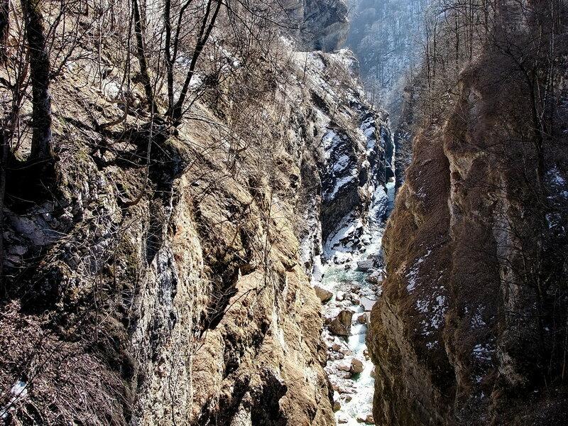 каньон Ахсинта зимой