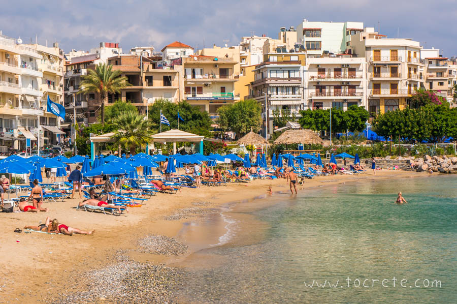 Городской пляж Агиос Николаос | City beach in Agios Nikolaos