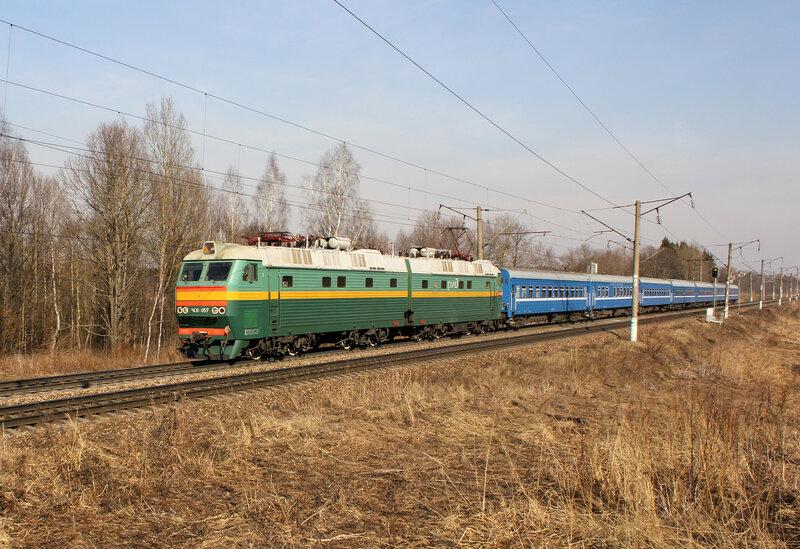 ЧС8-057 с ПДСом на перегоне Ярцево - Кардымово