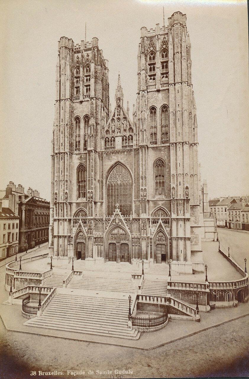Брюссель. Собор Святых Михаила и Гудулы. 1875