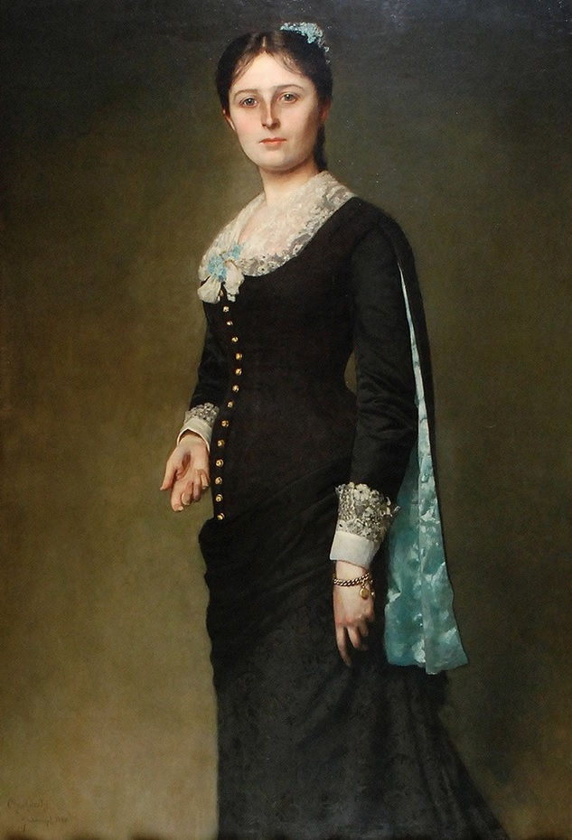 Портрет Марии Годлевской (1880)Чахурский Владислав, (1850-1911)