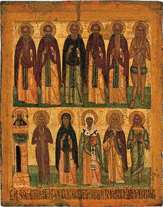 Избранные святые Двухрядная икона