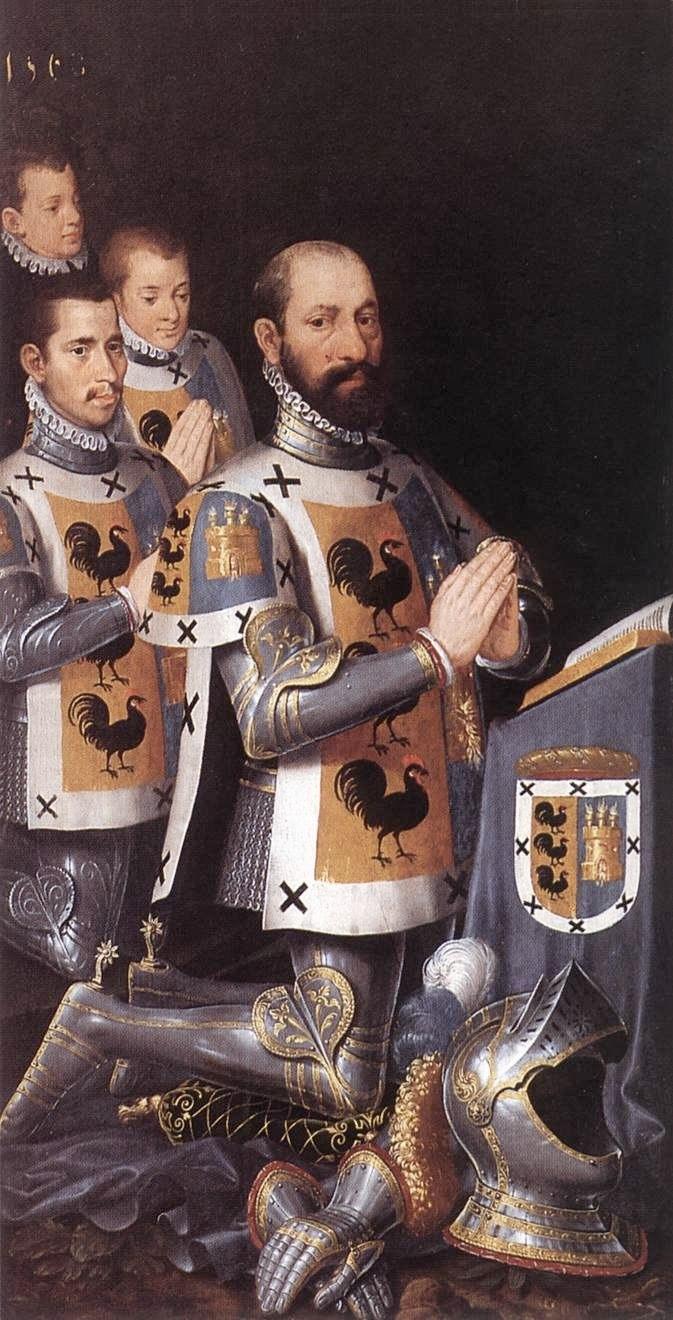 """Питер Порбус. """"Хуан Лопез Галло с сыновьями"""" 1568"""