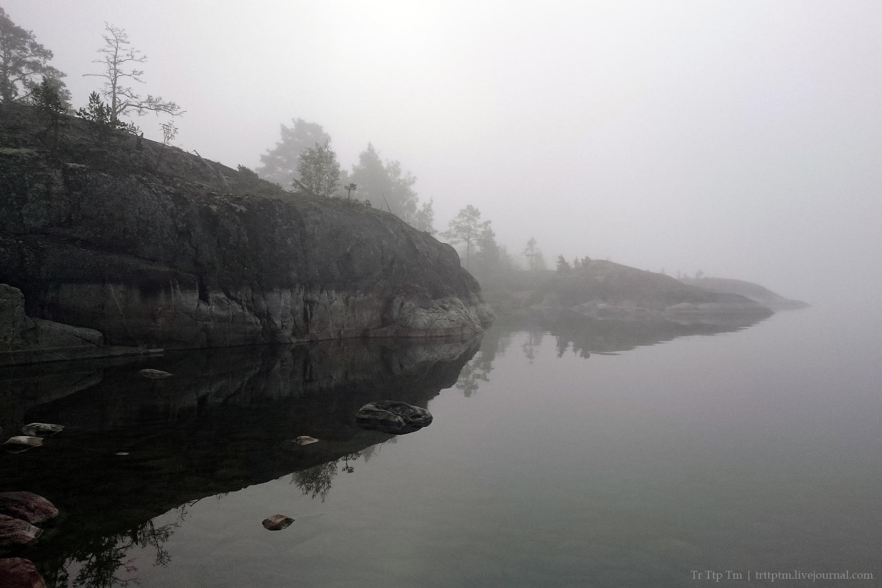9. Пляжи, скалы и туманы ладожских шхер.