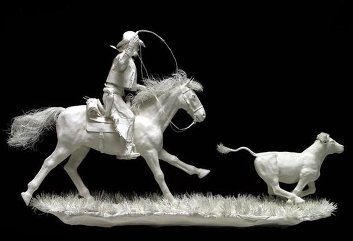 Удивительные скульптуры из бумажной массы 0 115b76 704205fd orig