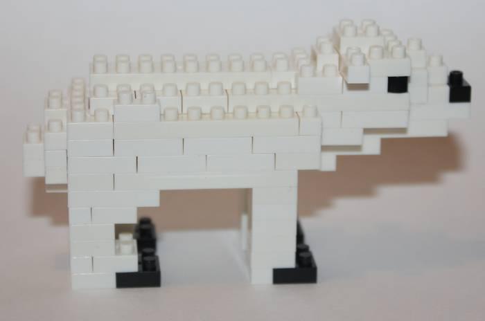 Конструктор LOZ Gift Белый медведь