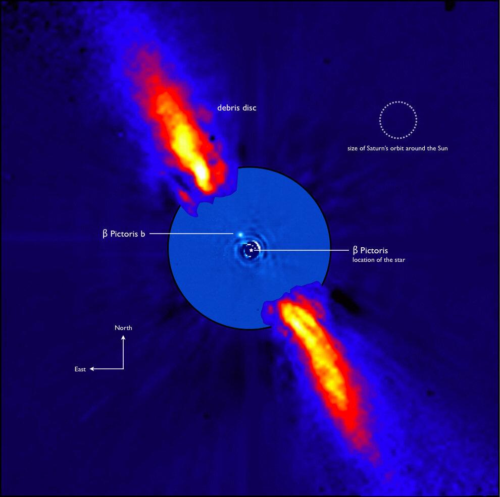 Астрономы открыли вторую экзопланету в системе Бета Живописца