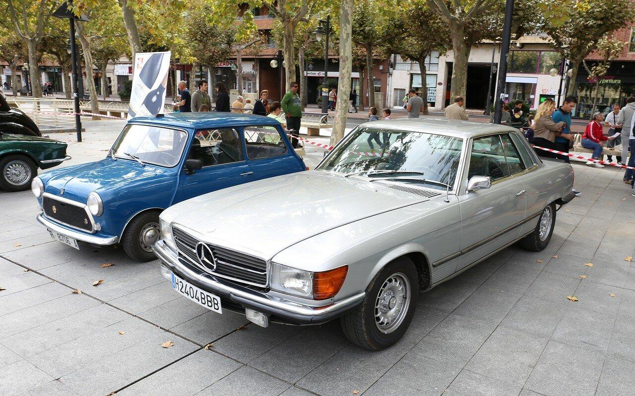 Парад ретроавтомобилей в Логроньо. Mercedes 350SLC