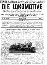 Журнал Die Lokomotive II.Jaghrgang (1905)