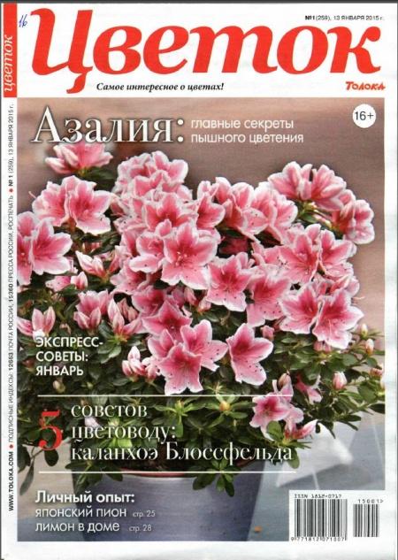 Книга Журнал: Цветок № 1 (январь 2015 )