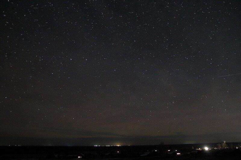 Созвездие Большой медведицы 23 ноября 2014 г. Астрономический выезд в Шалегово (Оричи, Кировская область)