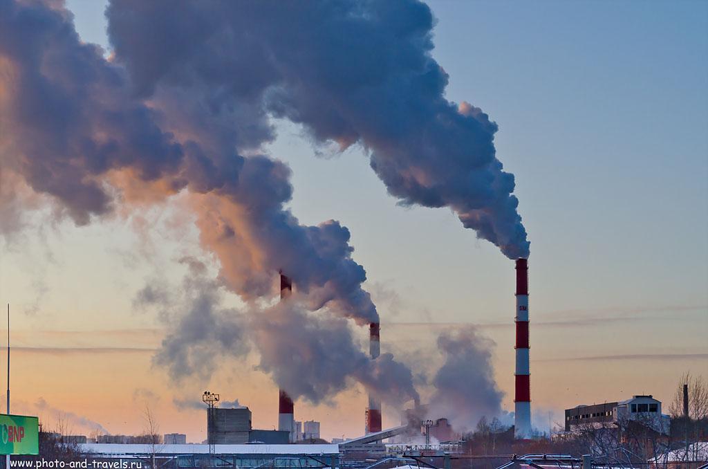 Фотография 1. Засасывая облако... Индустриальные виды Екатеринбурга