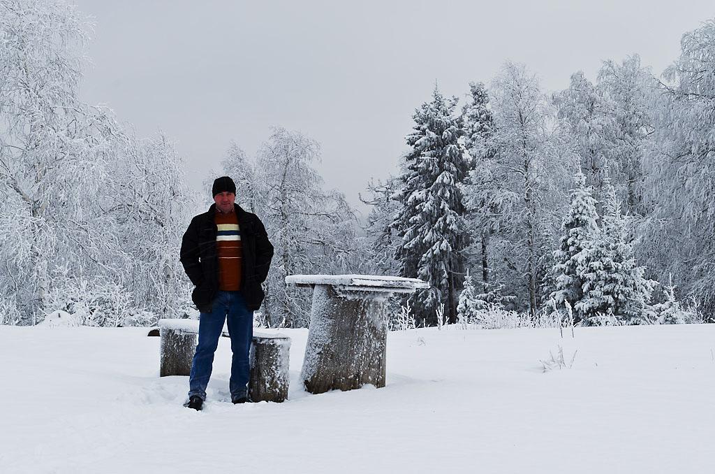 """Фото 39. Автопортрет """"Зимой в тайге"""". Автор фото - штатив Sirui T-2204X. Снято также в ту поездку в Пермский край"""