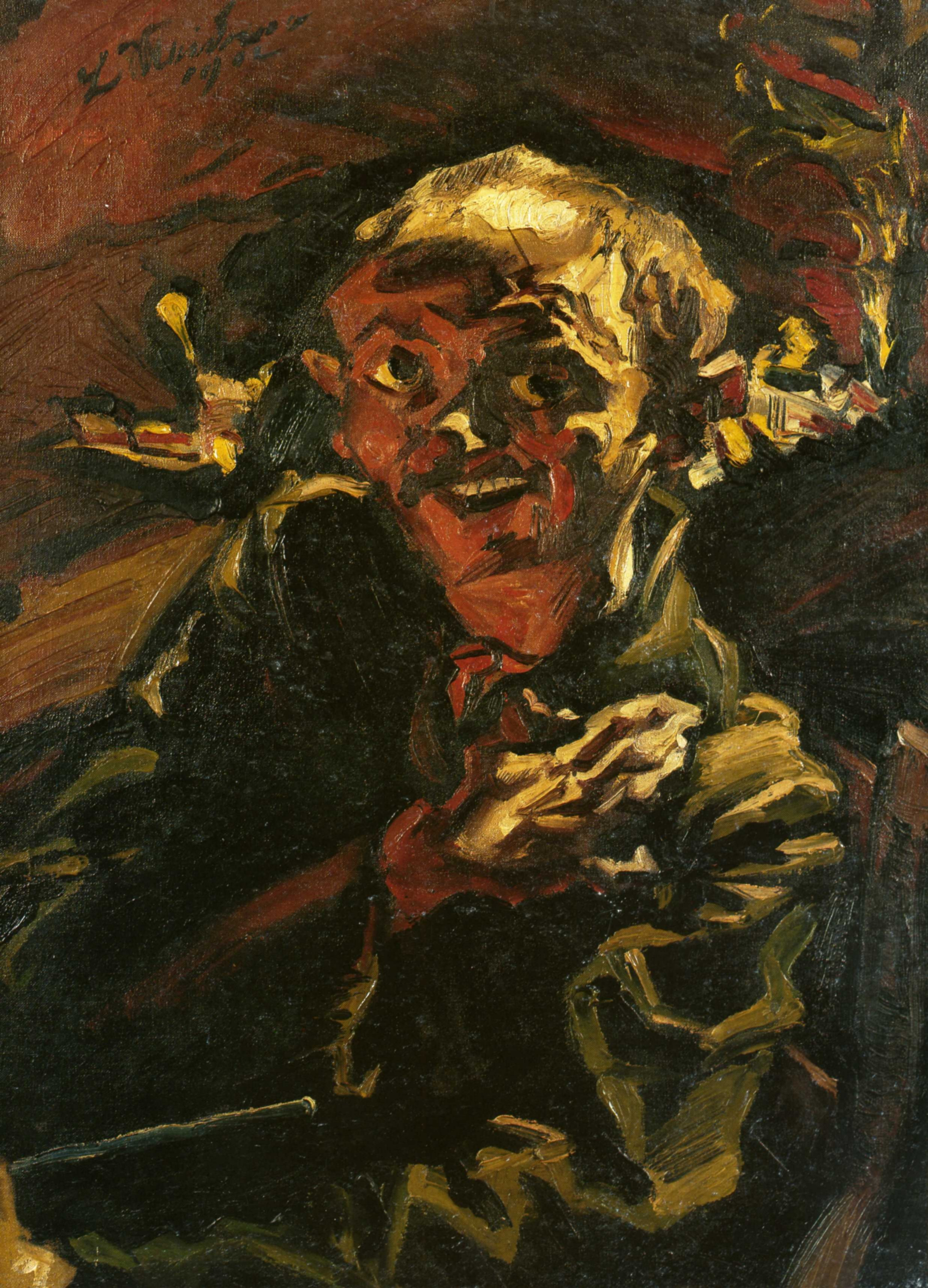 Людвиг Мейднер (1884 — 1966) — немецкий художник и писатель, представитель экспрессионистского направления в искусстве. 1912. «Автопортрет»