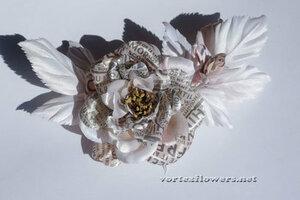 Мастер-класс. Роза  с газетным принтом «Lady Print» от Vortex  0_fc105_80c439c_M