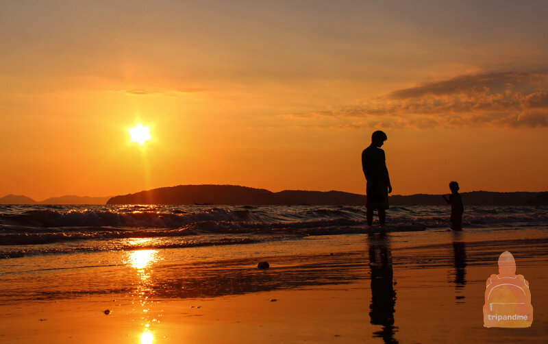 красивый закат солнца фото