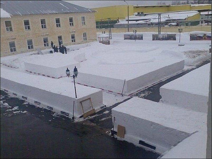уборка снега в армии