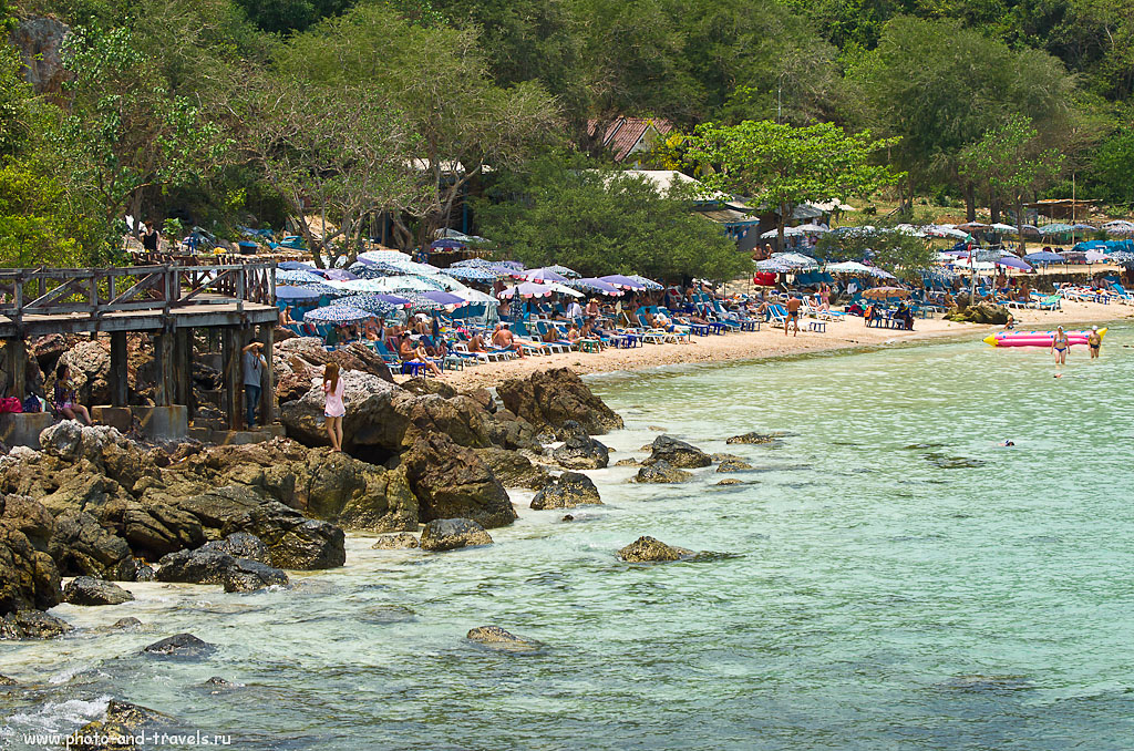 9. Пляж у пирса Tawaen на острове Koh Larn. 70-300mm, 1/500 сек, 0 eV, приоритет диафрагмы,  f/4.5, 70 мм, 100