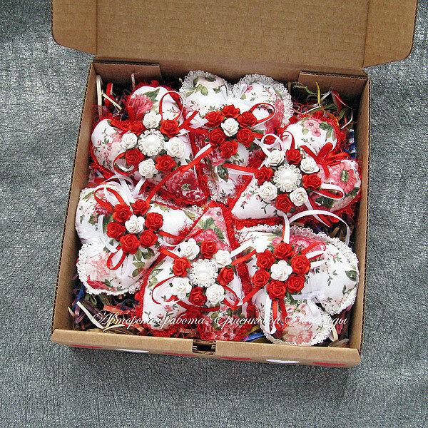 Набор сердечек (в коробочке)