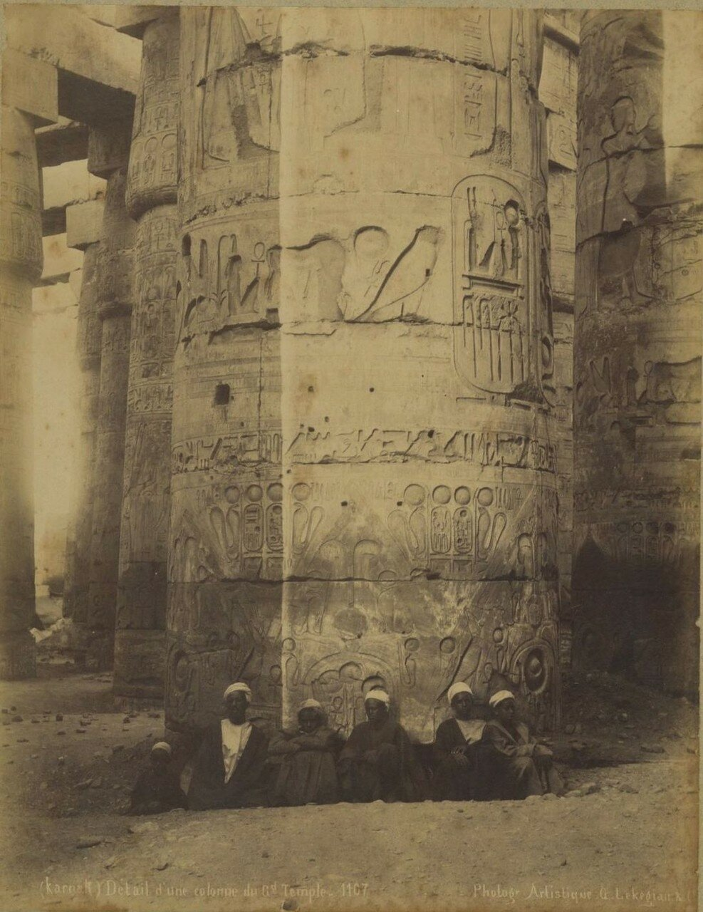 Карнак, Деталь колонны храма