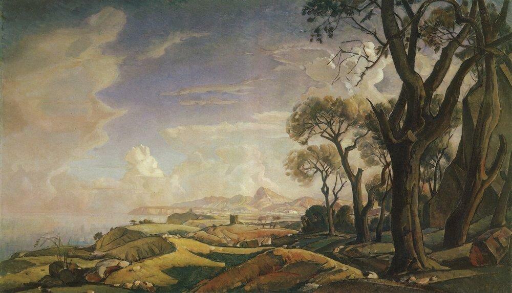 Пейзаж с деревьями. 1927.jpg